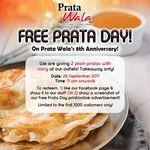 2 Free Plain Pratas with Curry at Prata Wala (Tuesday 26th September)