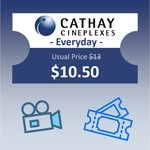 Cathay Cineplexes - Everyday Voucher for $10.50 Instead of $13 from scommerce via Shopee