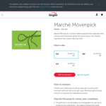 20% off Marché Mövenpick Gift Cards via Giftany