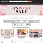 Up to 50% off at Vaniday ($20 Max)