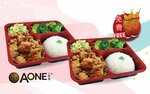 1 for 1 Prawn Paste Chicken Cube Bento Set + 2x Lychee Tea for $12.12 (U.P. $29.10) at A-One Claypot House via Fave