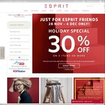 Esprit Cyber Monday Sale - 30% off on 3 Items or More