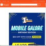 $30 off Phones at Shopee ($300 Minimum Spend)