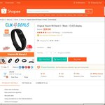Xiaomi Mi Band 2 for $24.80 Delivered from Clik 4 Deals/clikclik at Shopee (New Customers)