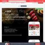 $12 Cashback (New Customers) or 1.5% Cashback (Existing Customers) for UberEATS Orders [ShopBack]