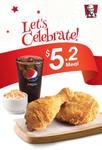 2pcs Chicken, Regular Whipped Potato and Regular Pepsi for $5.20 at KFC