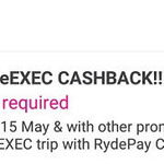 38% Cashback on RydeX and RydeEXEC Rides with RYDE