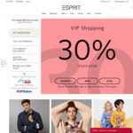 30% off Storewide at Esprit (Esprit Friends Members)