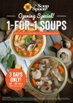 1 for 1 Soups at The Soup Spoon (Metropolis)
