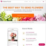 20% off All Orders at A Better Florist