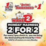 2 for 2 Offer at Karaoke Manekineko (Orchard Cineleisure) [Mondays]