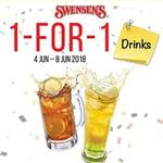 1 for 1 Drinks at Swensen's via App (Monday 4th to Friday 8th June)