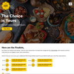 Up to 500 Bonus Chope-Dollars (Up to $15 Value) with Reservations & Voting at Chope