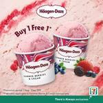 1 for 1 Häagen-Dazs Summer Berries & Cream Ice Cream Mini Cups at 7-Eleven
