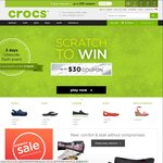$20 off Min $60 Purchase, $30 off Min $70 Purchase - Crocs Online Store