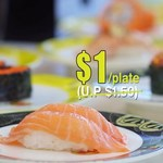 Sushi at $1/Plate + Free Drink or Ice Cream with Min Purchase of 12 Plates at One Sushi (Monday to Thursday, Before 5pm)