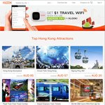 $1 Travel Wi-Fi (Japan, Korea, Taiwan, Hong Kong or Kuala Lumpur) for First Day* When You Pay with Android Pay at Klook