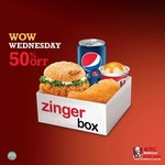 Wow Wednesday: 50% off Zinger Box at KFC