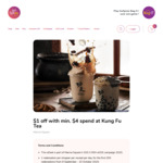 $1 off with Min. $4 Spend at Kung Fu Tea (Marina Square)
