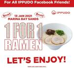 1 for 1 Ramen at Ippudo (Marina Bay Sands, Facebook Required)