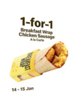 1 for 1 Breakfast Chicken Sausage Wrap at McDonald's (via App) [14-15 Jan]