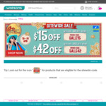$15 off ($80 Min Spend) or $42 off ($165 Min Spend) at Watsons