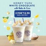 Honey Yuzu White Chocolate with Nata de Coco for $12.90 at The Coffee Bean & Tea Leaf