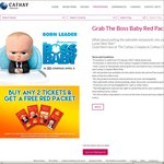Buy Any 2 Movie Tickets at Cathay Cineplexes and Receive a Free Pack of 'The Boss Baby' Red Packets