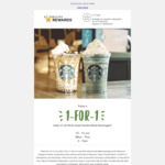 1 for 1 Any Venti-Sized Handcrafted Beverage at Starbucks (10-13 June 2019, 3-7pm)
