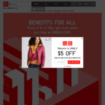 $10 In-Store Credit (Min Spend $80) with $100 Online Spend (One Transaction) for App Members @ Uniqlo