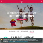 Free AIA Travel Insurance (Departure from SG between 1/12/19 and 31/12/19; coverage till 15/1/19)