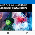 25% off Wicked Tickets for 48 Hrs