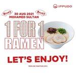 1 for 1 Ramen at Ippudo (Sultan)