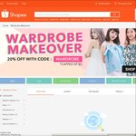 20% off Selected Items in Women's Wardrobe Makeover Category at Shopee