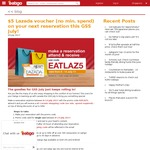 Bonus $5 Lazada Voucher with Every Reservation Booked & Attended at Eatigo