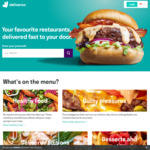 $5 off First 3x Deliveroo Orders