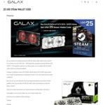 USD $25 Steam Voucher with GALAX GeForce GTX 1070/1070ti Purchase