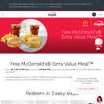 Free McDonald's Extra Value Meal with an $8 or $15 hi! SIM Card or >$20 Data Plan Purchase with Singtel