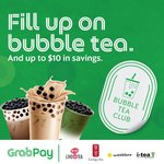 Grab Bubble Tea Club: 1st Month for $5 (New GrabPay Users) or $9 (Existing GrabPay Users)