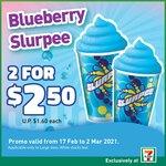 2 Large Blueberry Slurpees for $2.50 (U.P. $3.20)
