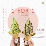 1 for 1 Matcha, Hojicha & Mixed Flavour Soft Serves at 108 Matcha Saro (2-8pm Daily)