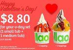 1 Small Tub and 1 Medium Tub for $8.80 (U.P. $10.80) at llaollao