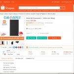 Xiaomi 10000mAh Power Bank 2 for $11.80 (New Customers) or $18.80 Delivered (Existing Customers) from clikclik at Shopee