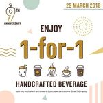 1 for 1 Handcrafted Beverages at Joe & Dough