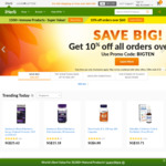 iHerb: 10% off (Min Spend $60) and Double Cashback at RebateMango (8%)