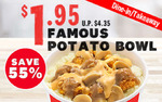 Famous Potato Bowl for $1.95 (U.P. $4.35) with Any Purchase at KFC [via App]