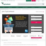 Register with TopCashback and Make a Transaction with AmEx to Get a USD $15 Amazon Gift Card