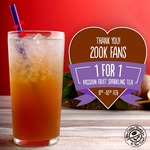 1 for 1 Passion Fruit Sparkling Tea at The Coffee Bean & Tea Leaf (Facebook Required)