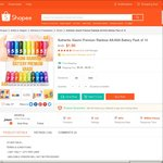 Xiaomi Mi Rainbow Batteries 10 Pack [Non-Rechargeable] (AA or AAA) for $1.90 Delivered from jetrading at Shopee