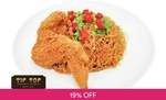 Chicken Wing and Fried Bee Hoon Set for $1 at Tip Top via Fave by Groupon